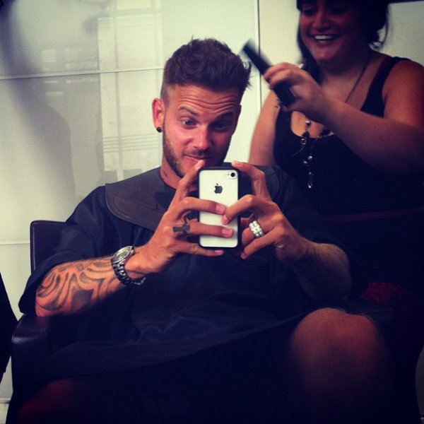 matt au coiffeur