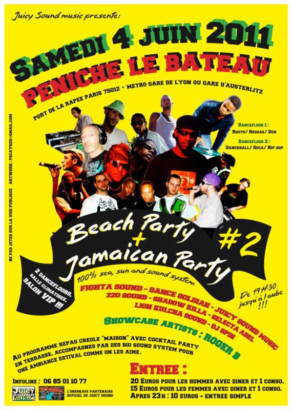 JUICY SOUND MUSIC Présente BEACH PARTY + JAMAICAN PARTY (PANAME SOUND )