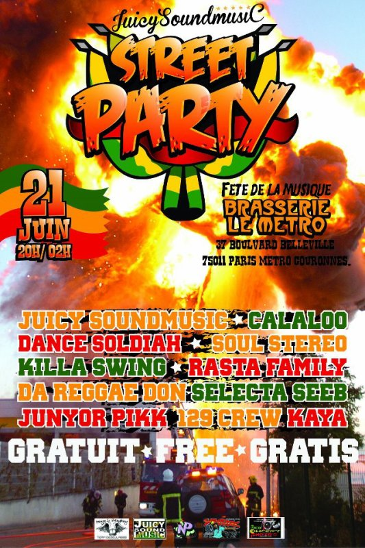 21 JUIN FETE DE LA MUSIC STREET PARTY