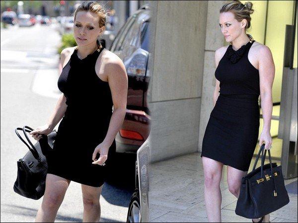 """FlashBack: 15/07/10: Hilary Duff: Gorgeous Gucci à Beverly Hills Vous cherchez la véritable partie d'une beauté à Hollywood, Hilary Duff a été repéréà un traitement peu de détail haut de gamme dans Beverly Hills. Enfilage de la petite robe noire sexy avec ses cheveux tirés en arrière, l'étourdissement""""Lizzie McGuire"""" étoile tomber dans le local Gucci pour naviguer sur le magasin sélections."""