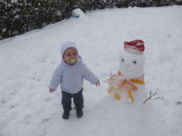 mon loulou dans la neige