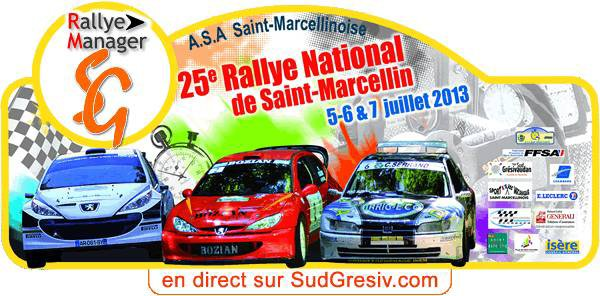 25ème Rallye National de Saint Marcellin 2013
