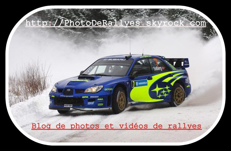 Bienvenue sur mon blog consacrée aux Rallyes