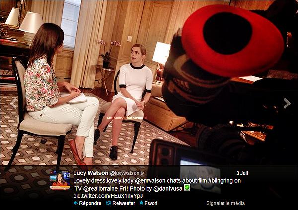 Interview : Emma au Lorraine Show - 04/07/2013.
