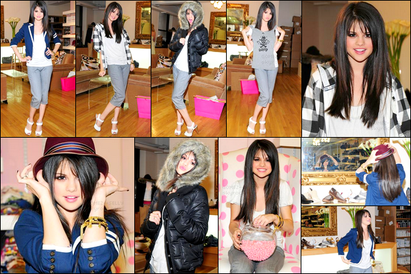 . 10/08/08 - Selena Gomez a été photographiée - en plein essayage - au Alison Brod Showroom à Los Angeles..
