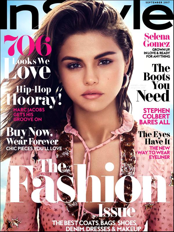 Selena fait la couverture du célèbre magazine In Style de ce mois de Septembre 2017 !