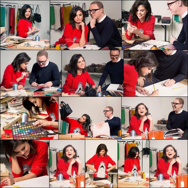 Voici les nouvelles photos de Selena Gomez lors de la création de la collection de Coach !