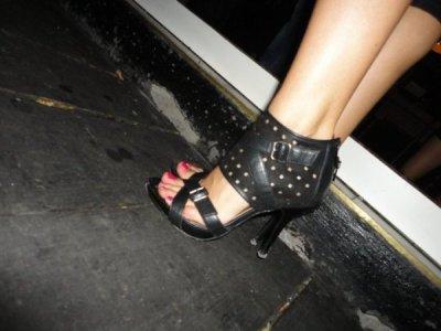 Talons noirs pour des pieds sublimes