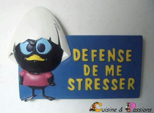 Defence de me stresser
