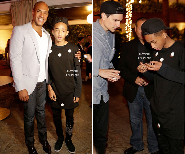 _  ● ● ● 14.05.2013 : Jaden a assister à la réception pour le numéro Young Hollywood du magazine Nylon. -