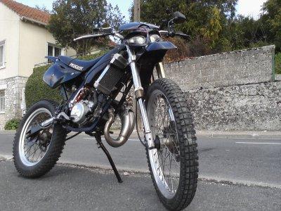 la moto apres un netoyage