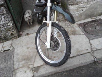 ma moto au soleil
