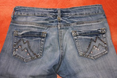 Corsaire en jean. Taille 36