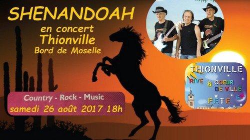 Concert au bord de la Moselle.