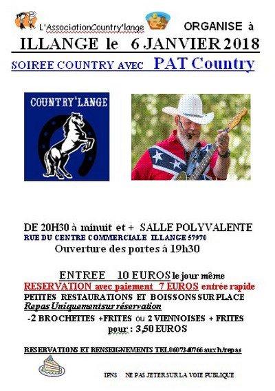 Soirée Country avec Pat.