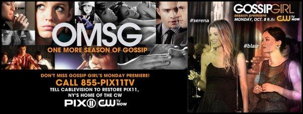 Nouveaux posters de la saison 6 de Gossip Girl
