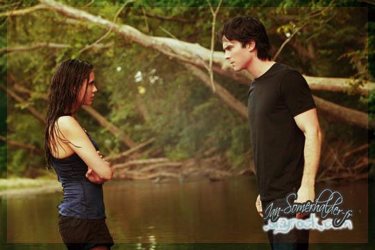""". Still du 3x02 """"The Hybrid"""" mettant en scène Damon&Elena. Découvrez les autres en cliquant ici. ."""