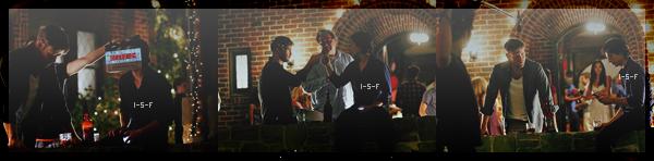 """. Nouvelles photos BTS de l'épisode 3x01 """"The Birthday"""" de Vampire Diaries avec Damon et Alaric. ."""