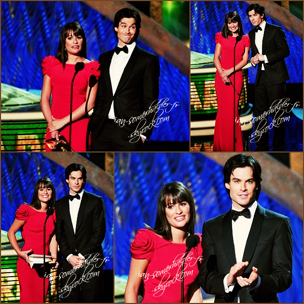 . 18 Septembre 2011 - Ian Somerhalder et Nina Dobrev @ the Emmys Awards à L.A en tant que couple officiel $)   .