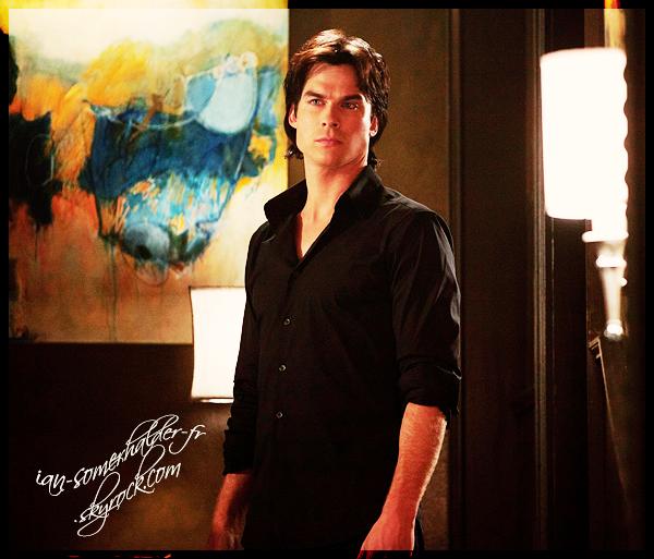 """. Découvrez un nouveau Still du 3x03 """"The End of The Affair"""" de VD avec un Damon...toujours en noir  :o   ."""