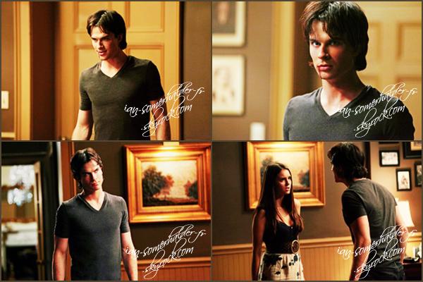 """. 4 nouveaux stills exclusifs du 3x04 de Vampire Diaries """"Disturbing Behavior"""" avec Damon et...Elena (l).  ."""