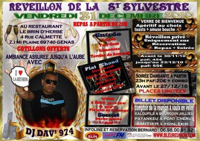 SOIREE DE LA ST SYLVESTRE VENDREDI 31 DECENBRE 2010
