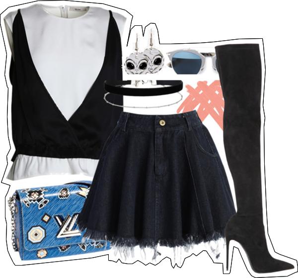 (my outfit n°21 sur P O L Y V O R E et tumblr.)