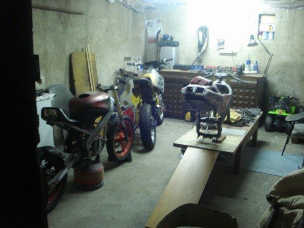 nouveau garage !!! nouvel atelier !!!