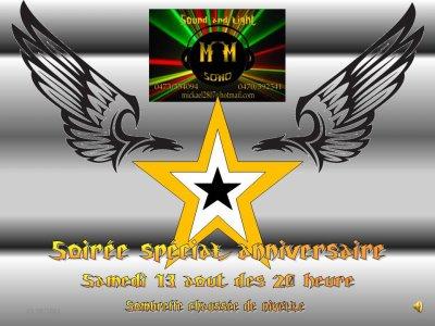 soiree special anniversaire premiere soiree animee par M/M SONO alors venez nombreux
