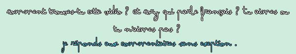 Cory et le français : Partie 2