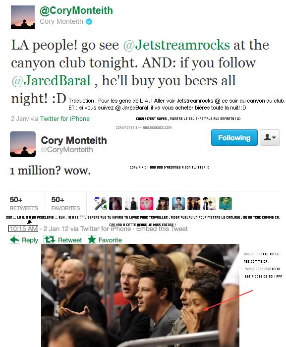 Cory toujours en Australie , à Sydney le 30 décembre :