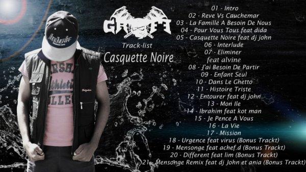 Track- list De Mon Album Casquette Noire