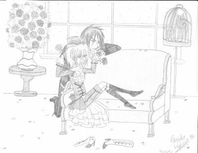 Soirée hivernal chez la comtesse Uchiwa