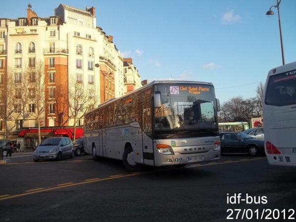 Réseau Houtoule-SQYbus,ligne 475,autocar Setra à Porte d'Orléans Métro-Tram