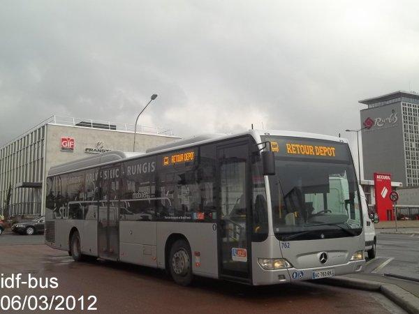 Réseau Albatrans,ligne 191.100,bus Mercedes-Benz Citaro II CNG n°762 à Marché de Rungis