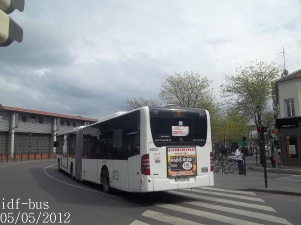 Réseau Véolia transport R'Bus TVO,ligne 9,bus Mercedes-Benz Citaro G II à Gare d'Argenteuil