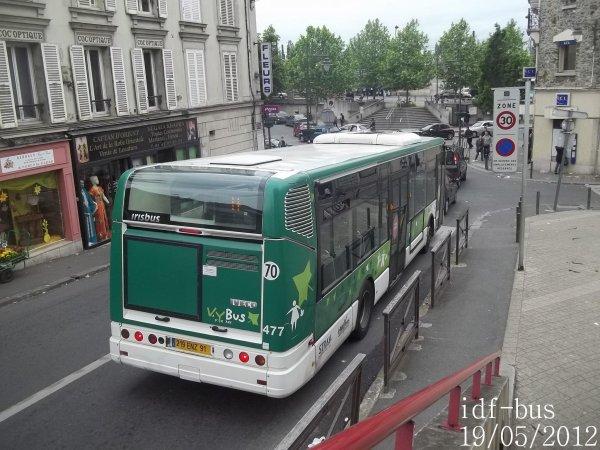 Réseau Véolia transport VY BUS-STRAV,ligne H,bus irisbus-iveco Citelis 12 clim à Villeneuve-Saint-Georges RER