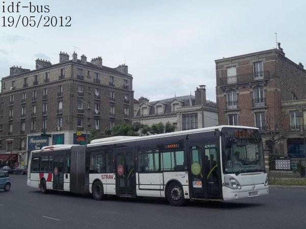 Réseau Véolia transport STRAV,bus irisbus-iveco Citelis 18 clim à Villeneuve-Saint-Georges RER