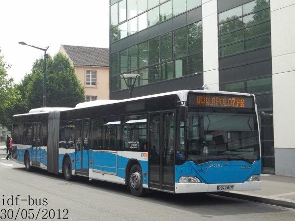 Réseau Transdev Apolo 7,Bus Mercedes Citaro G I à Chelles-Gournay RER