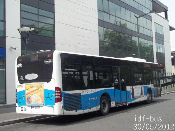 Réseau Transdev Apolo 7,Bus Mercedes Citaro Facelift à Chelles-Gournay RER