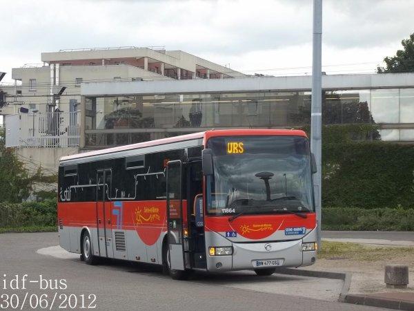 Réseau Seine et Marne Express,ligne 19,Autocar irisbus-iveco Crossway STIF de Véolia TVF