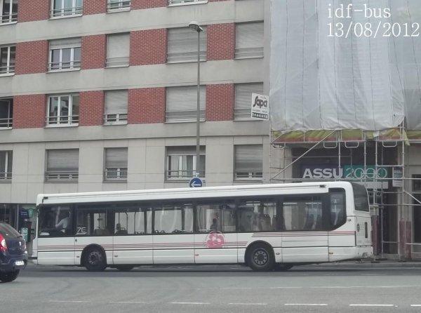 Service spécial,bus de remplacement Tramway T2,les bus RATP DEV du 13/08/2012 (Suite et fin)