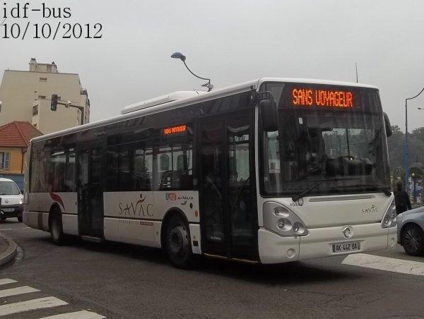 Réseau SAVAC transport,quelques bus à Versailles-Chantiers