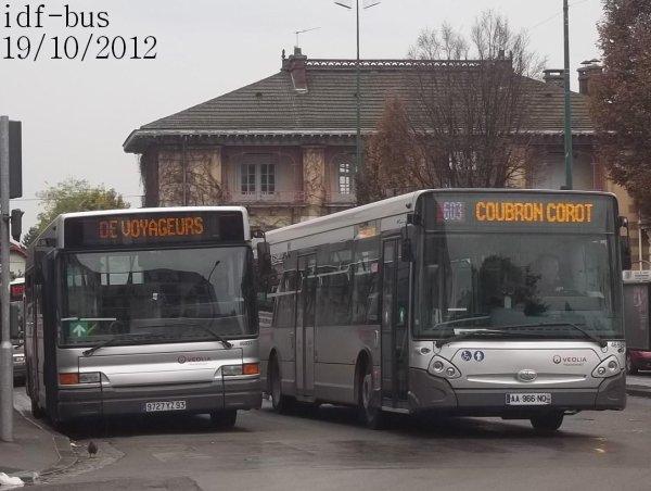 Réseau Véolia Transport TRA,quelques bus à Le Raincy-Villemomble-Montfermeil RER (Suite et fin)