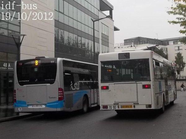 Réseau Transdev Apolo 7,quelques bus à Chelles-Gournay RER