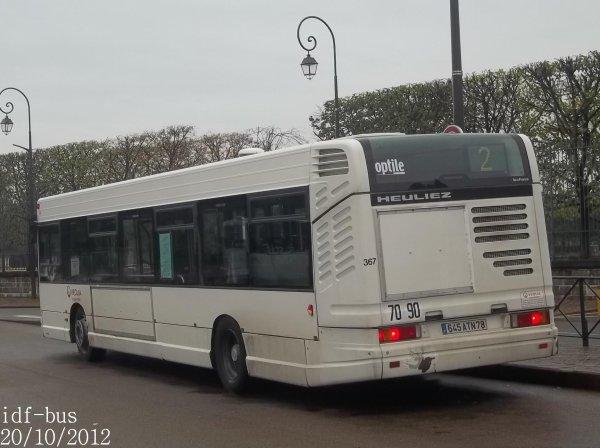 Réseaux Résalys et Véolia Conflans,quelques bus à Saint-Germain-En Laye RER