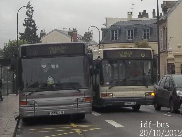 Réseaux Résalys,RATP  et Véolia Conflans,quelques bus à Saint-Germain-En Laye RER