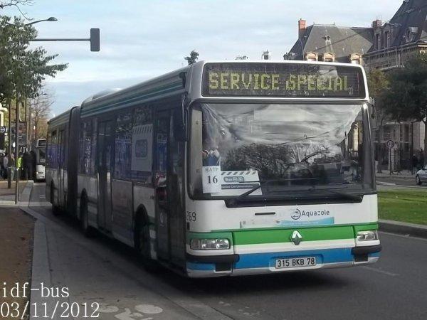 Service spécial: Bus de remplacement  RER B