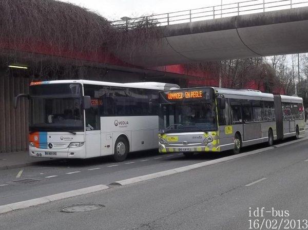 Réseaux Bus Val d'Oise,STIVO,Valoise Groupe Lacroix à Cergy-Préfecture RER
