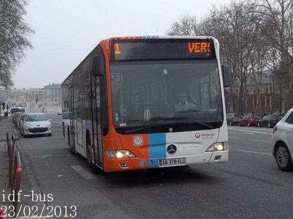 Groupe Véolia Transport et Réseau Phébus groupe Kéolis à Versailles-Préfecture